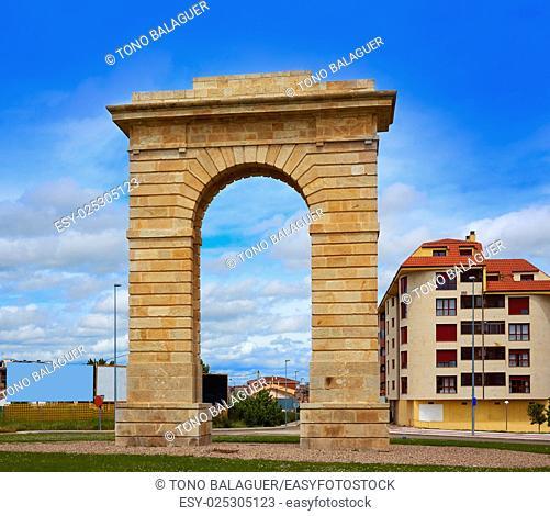 Zamora Puerta del Pescado fish door in Spain by the via de la Plata