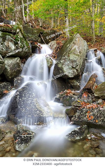 Tributary of Lost River in Kinsman Notch of Woodstock, New Hampshire USA during the autumn months