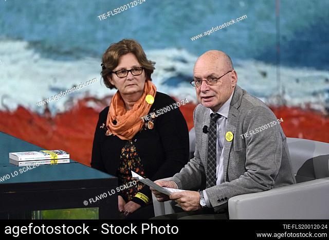 Paola and Claudio Regeni, parents of Giulio Regeni during the tv show Che tempo che fa, Milan, ITALY-19-01-2020