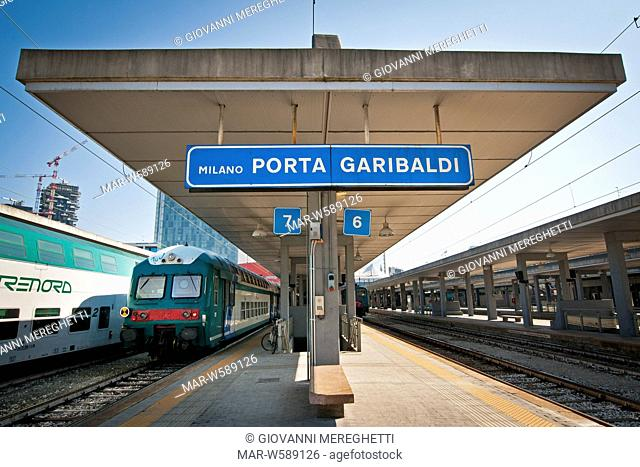 Italy, Milan, Porta Garibaldi railway station