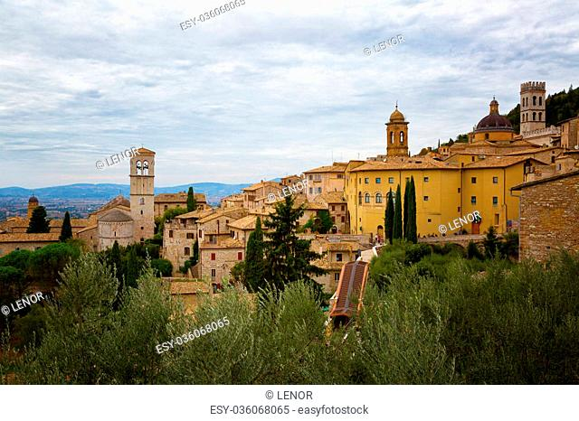 Old houses in Assisi, Umbria, Italy
