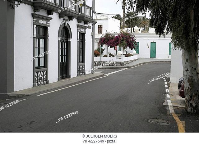 04.03.2017, Spain, Lanzarote, Haria: emty street Free space . - L, Spain, 04/03/2017