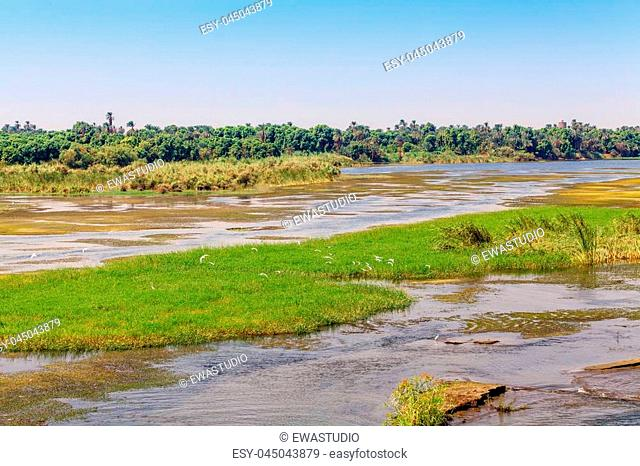 River Nile in Egypt. Life on the River Nile