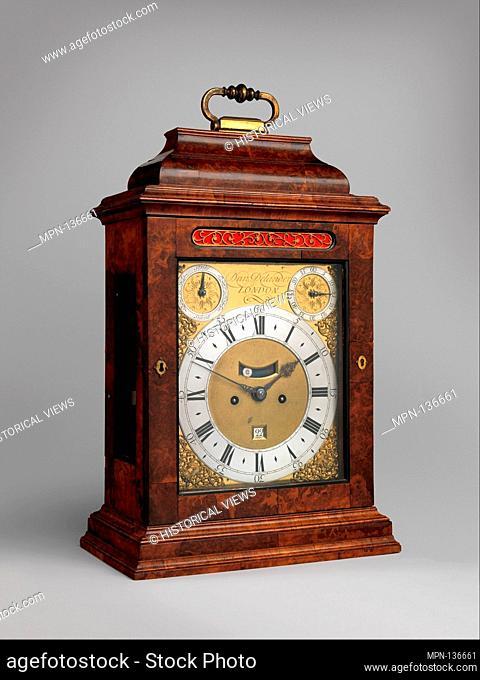 Table or bracket clock with calendar. Maker: Clockmaker: Daniel Delander (British, 1678-1733); Date: probably ca. 1720; Culture: British