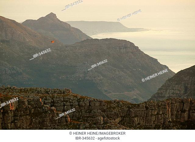 Sunset from Table Mountain, Cape Town, South Africa