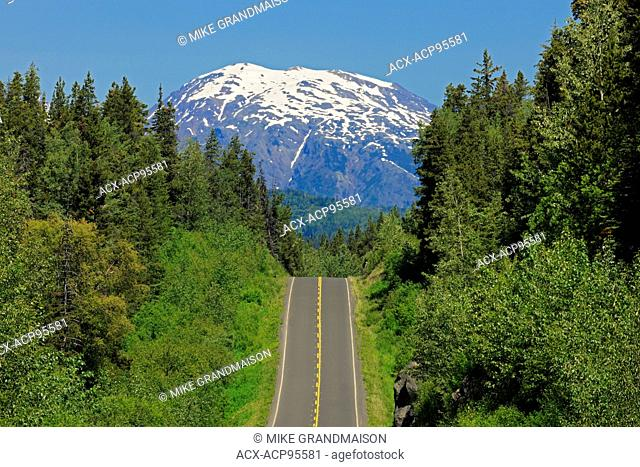Stewart Cassiar Highway and mountains Stewart Cassiar Highway British Columbia Canada