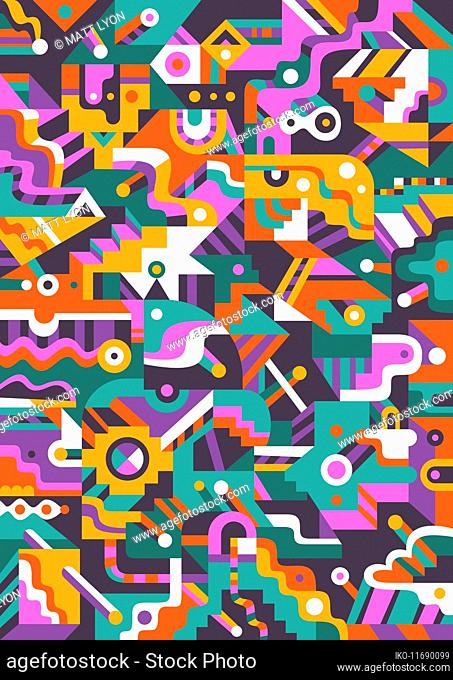 Geometric abstract pastel pattern