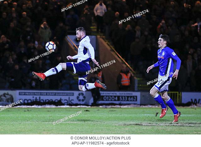 2018 FA Cup Football 4th Round Replay Rochdale v Millwall Feb 6th. 6th February 2018, Crown Oil Arena, Rochdale, England; FA Cup football, 4th round replay