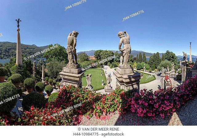 castle park on the Borromean Islands on Lago Maggiore in Lombardy