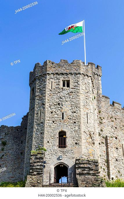 Wales, Cardiff, Cardiff Castle, The Norman Keep