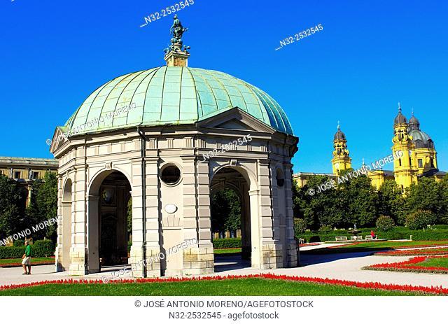 Munich, Diana Temple, Hofgarten, Bavaria, Germany