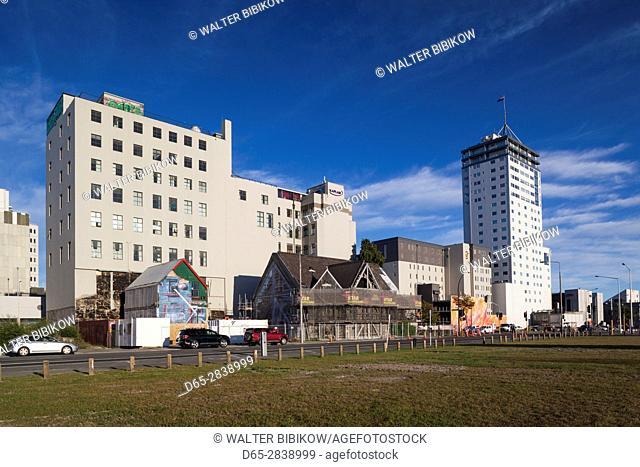 New Zealand, South Island, Christchurch, Manchester Street, morning