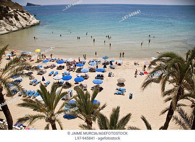 View of beach, Benidorm Spain