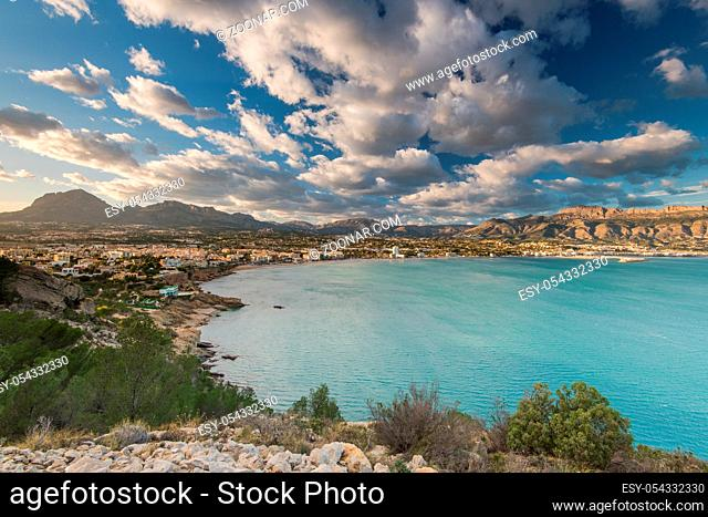 Panoramic view over Albir in Alicante, Spain at sunny day. Albir is main tourist destination in Costa Blanca