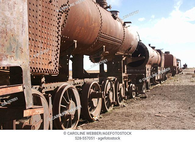 Rusted trains at Uyuni, Bolivia