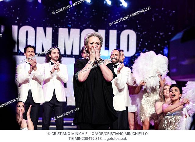 Carolyn Smith during the performance at the tv show Ballando con le stelle (Dancing with the stars) Rome, ITALY-20-04-2019