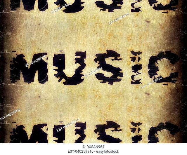 music word background