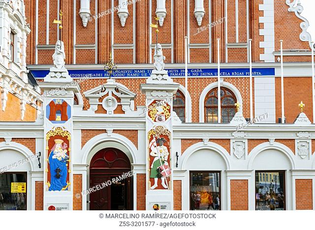 Detail. House of the Blackheads is a building situated in the old town of Riga. The original building was erected during the first third of the 14th century for...