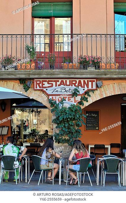 La Bota Restaurant terrace. Prades, Tarragona