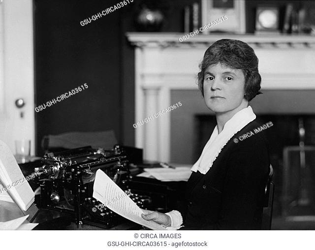 Woman Working in Office, Washington DC, USA, Harris & Ewing, 1921