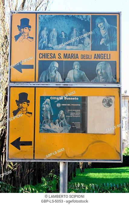 Board, Church of S. Maria Degli Angeli, 2012, Busseto, Parma, Italy