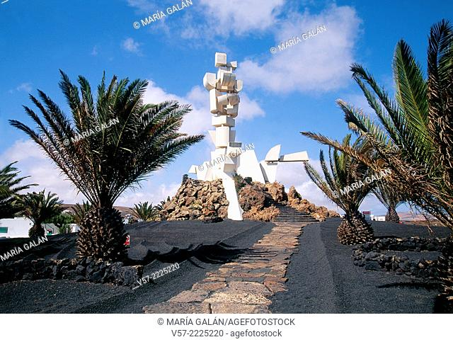 Fertility sculpture, by Cesar Manrique. Monument to Countryman, Lanzarote island, Canary Islands, Spain