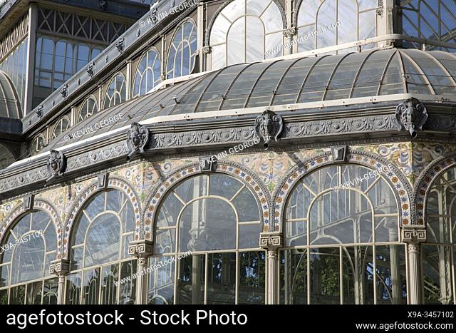 Palacio de Cristal Building, Retiro Park, Madrid, Spain