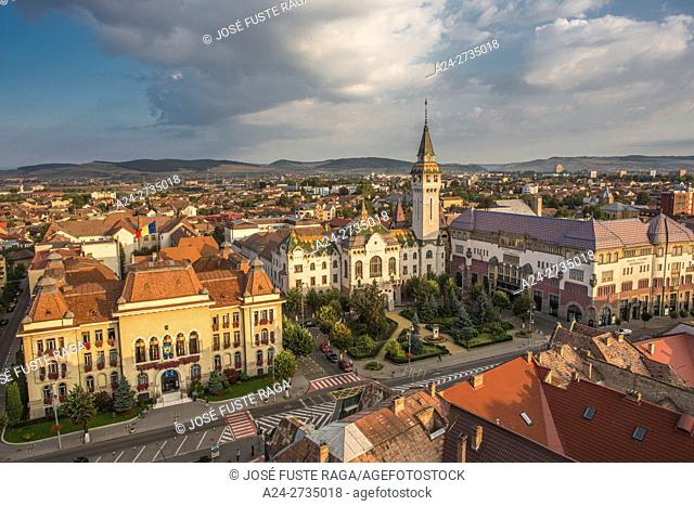 Romania,Romania, Targu Mures City, City Hall, Prefecture Bldg. and Culture Palace