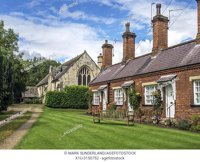 The Almshouses Chapel or Chapel House and Almshouses opposite St Mary Magdalen Chapel in Ripon Yorkshire England