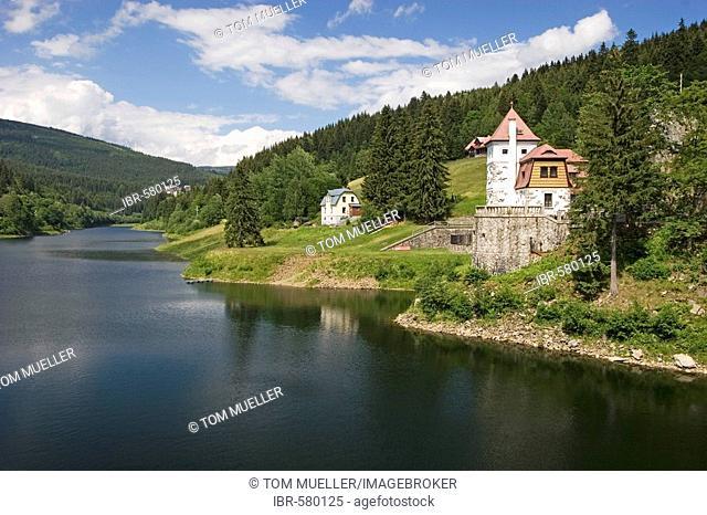 Storage lake, Spindleruv Mlýn, Giant Mountains, Czechia