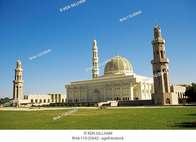 Sultan Qaboos Grand Mosque, built in 2001, Ghubrah, Muscat, Oman, Middle East