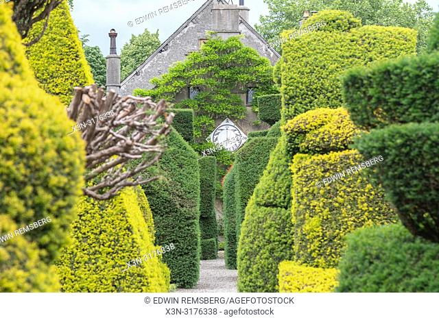 Topiary Gardens at Levens Hall , Kendal, Cumbria , UK