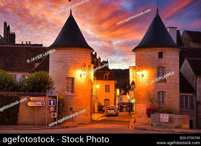 Noel door, Porte Noel, Chablis, Yonne, Bourgogne, Burgundy, France, Europe