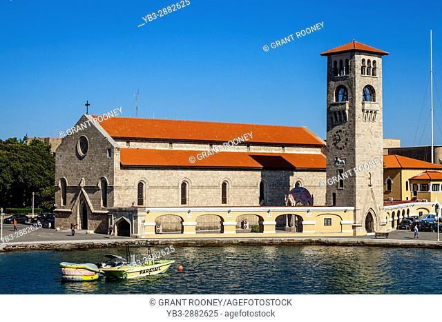 Evangelismos Church, Mandraki Harbour, Rhodes Town, Rhodes, Greece