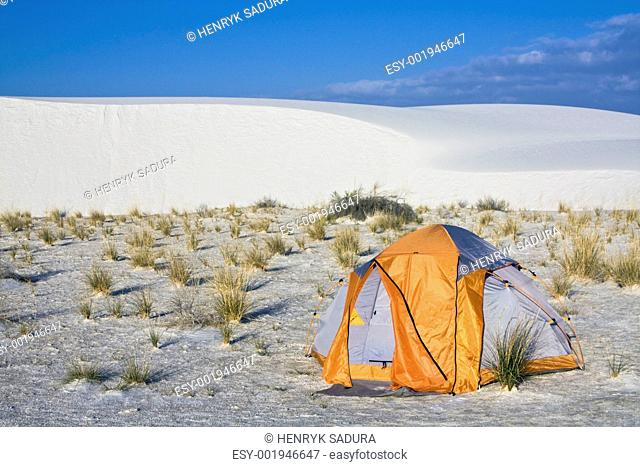 Camping in White Dunes National Monument