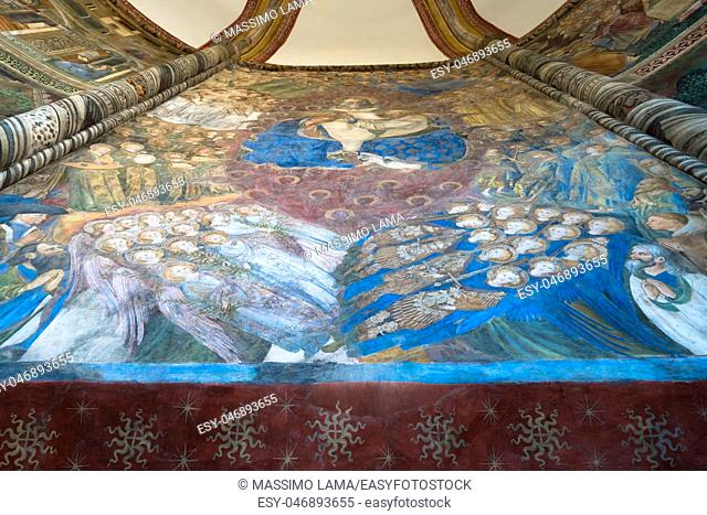 May 22 2016, Chapel Caracciolo del Sole in San Giovanni a Carbonara, a Gothic church in Naples, Italy