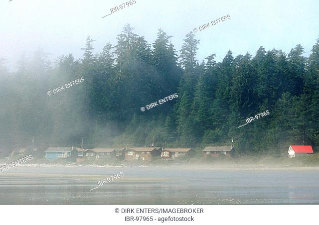 Nuu-chah-nulth first nation settlement (reservation) at Long Beach in Pacific Rim National Park on Vancouver Island, British Columbia, Canada