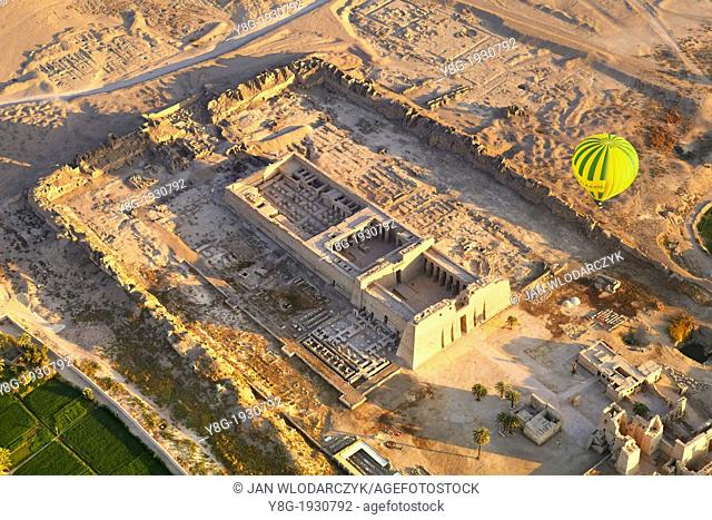 Egypt - balloon flights over the Medinet Habu, Temple of Ramses III, the west bank of the Nile, Upper Egypt