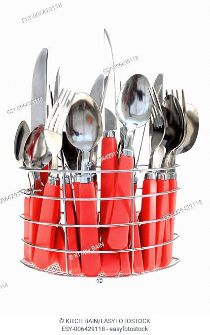 A close a shot of eating utensils
