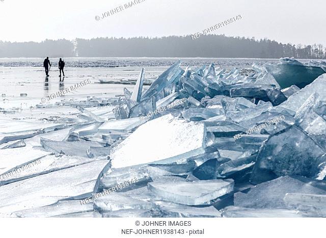 People ice skating, Sweden