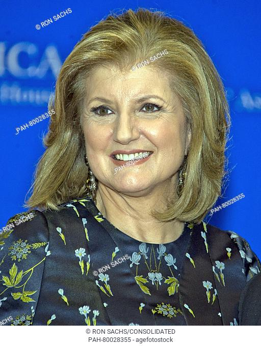 Arianna Huffington arrives for the 2016 White House Correspondents Association Annual Dinner at the Washington Hilton Hotel on Saturday, April 30, 2016
