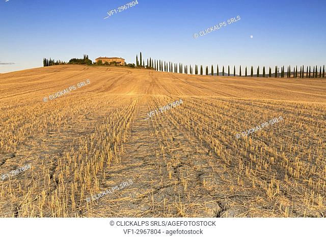 Europe,Italy,Siena district,Orcia Valley, San Quirico d'Orcia
