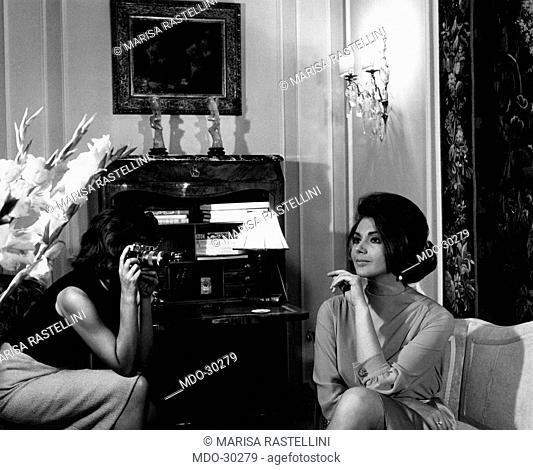 Sylva Koscina posing. Yugoslavian-born Italian actress Sylva Koscina posing for a photo-shooting. Rome, June 1963