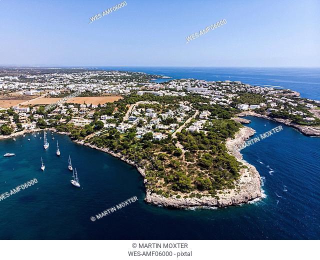 Spain, Balearic Islands, Mallorca, Region Cala d'Or, Coast of Porto Petro