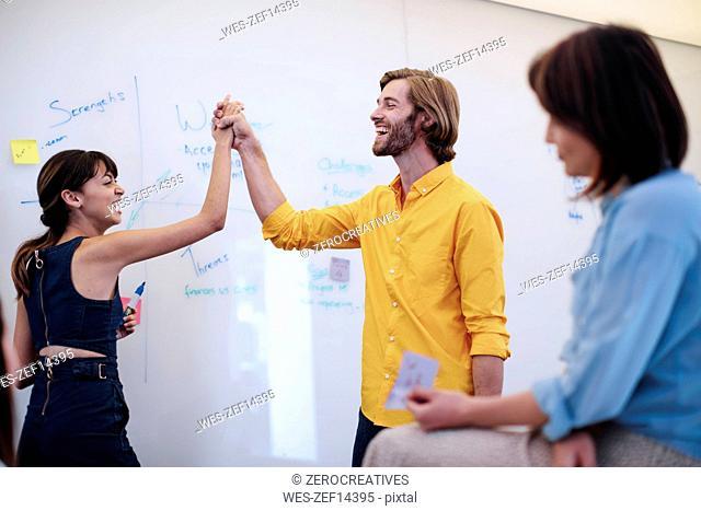 Business people having a meeting in office, brainstorming