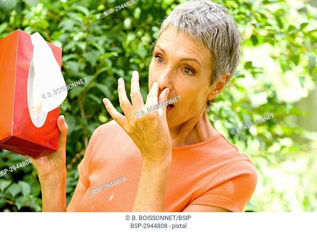 ELDERLY PERSON SNEEZING Model