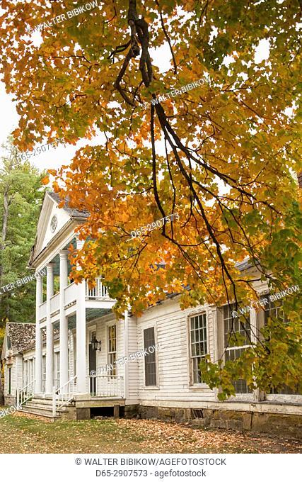 USA, New York, Adirondack Mountains, Ticonderoga, Fort Ticonderoga, The Paviliion, autumn