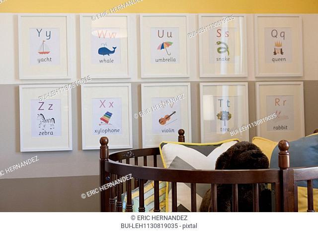 Interior of nursery room