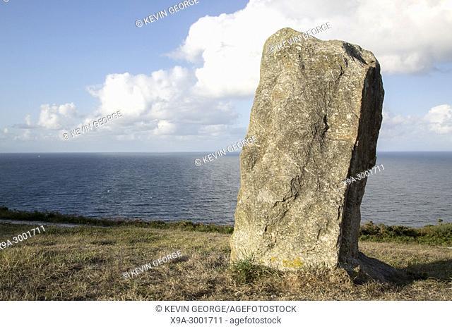 Standing Stone at Malpica; Fisterra; Costa de la Muerte; Galicia; Spain
