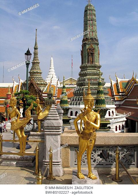 Wat Phra Kaeo temple, mystic statue, Thailand, Bangkok
